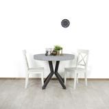 Afbeelding vanIndustriele tafel Howard met rond betonlook blad