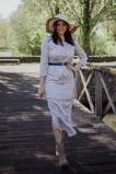 Afbeelding vanAAIKO Maxi jurken Wit SELENI FLOWER