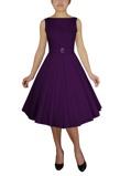 Billede af50ér kjole; Audrey Jane, lilla sød swingkjole med brusende skørt