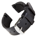 Bilde avBofink® Handmade Leather Strap for Fossil Grant Hybrid All Black