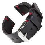 Bilde avBofink® Handmade Leather Strap for Fossil Men's Sport 43mm Black/Red