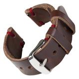 Bilde avBofink® Handmade Leather Strap for Fossil Men's Sport 43mm Brown/Red