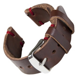 Bilde avBofink® Handmade Leather Strap for Fossil Grant Hybrid Brown/Red