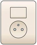 Afbeelding vanNiko combinatie van wisselschakelaar en wandcontactdoos zonder aarding, volledig apparaat incl. afdekplaat, cream