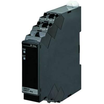 Afbeelding van 3 fase verschuiving bewakingsrelais, verlies, fase, aderig, 480 VAC, uitgang: 1x Transistor, Push in