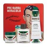 Afbeelding vanProraso Tin Green Vintage Scheerset Scheercrème / Pre shave crème...