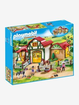 Imagem de 6926 Quinta de Cavalos, da Playmobil bege claro liso com motivo
