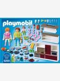 Imagem de9269 Cozinha da Playmobil branco claro liso com motivo