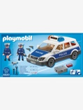 Imagem de6920 Carro da polícia com luzes e som, da Playmobil azul medio liso com motivo