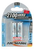 Afbeelding vanAnsmann Batterij Mignon AA HR06 2100mAh NiMH (2 Stuksverpakking) 4013674309924