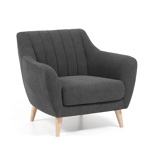 Afbeelding vanKave Home - Obo fauteuil donkergrijs
