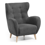 Afbeelding vanKave Home - Patio fauteuil donkergrijs