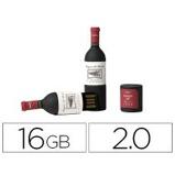 "Imagen de""Memoria usb techonetech flash drive 16 gb 2.0 botella de vino"""