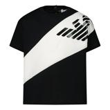 Afbeelding vanArmani 3HHT03 baby t shirt zwart