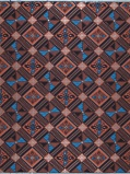 ObrázekVlisco VL00014.301.06 Blue/Brown African print fabric Limited Editions Geometrical