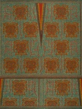 Bilde avVlisco VL00022.100.04 Blue/Orange African print fabric Wax Hollandais