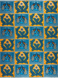 Abbildung vonVlisco VL00770.104.04 Blue/Orange/Gold African print fabric Limited Editions Nature