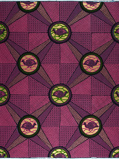 Imagen deVlisco VL00966.016.02 Pink/Gold African print fabric Limited Editions Nature