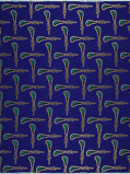 Imagen deVlisco VL00990.078.02 Blue African print fabric Limited Editions Geometrical