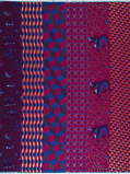 Abbildung vonVlisco VL01471.023.06 Blue/Pink African print fabric Limited Editions Geometrical