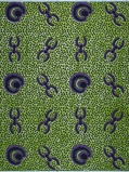 Imagen deVlisco VL02581.009.04 Green/Purple African print fabric Wax Hollandais Geometrical