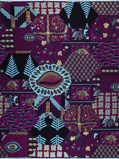 Imagen deVlisco VL02675.027.02 Purple African print fabric Limited Editions Decorative