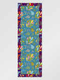 Bilde avVlisco Scarf flower lt blue 65x198cm Blue/Green/Pink African print fabric Accessories Nature