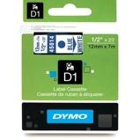 Billede afDymo S0720540 standardtape D1 blå på hvid 12mm x 7m Dymo 45014 original