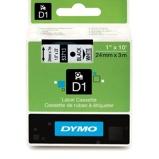Billede afDymo S0720930 standardtape D1 sort på hvid 24mm x 7m Dymo 53713 original