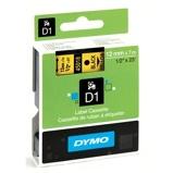 Billede afDymo S0720580 standardtape D1 sort på gul 12mm x 7m Dymo 45018 original