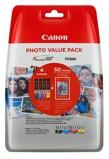 Billede afCanon value pack CLI 551XL BK+C+M+Y blækpatron 44ml original 4 stk. + 50 stk. fotopapir Canon PP 201