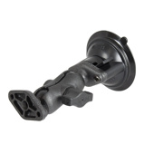 Afbeelding vanRAM Mounts RAP B 166U Twist Lock Suction Cup with Double Socket Arm and Diamond Base Adapter