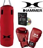 Afbeelding vanHammer Boxing Set FIT Bokszak 60 cm met Bokshandschoenen 10 oz nylon en DvD