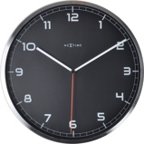 Afbeelding vanNextime Wandklok dia. 35 x 4.2 cm, aluminium, zwart, 'Company'