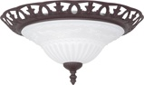 ObrázekRustic brown ceiling lamp with glass Elegant