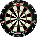 Afbeelding vanUnicorn dartbord Eclipse HD2 TV Edition Bristle 45,7 cm