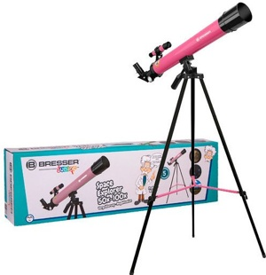 Image of Bresser Space Explorer telescope 45/600 AZ (Colour: pink)