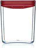 Afbeelding vanClickClack Pantry Cube vershouddoos (Inhoud: 1,4L, Kleur: rood/transparant)