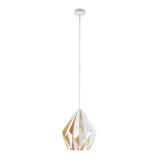 Afbeelding vanEGLO hanglamp Carlton, wit goud, Ø 31 cm, voor woon / eetkamer, staal, E27, 60 W, energie efficiëntie: A++