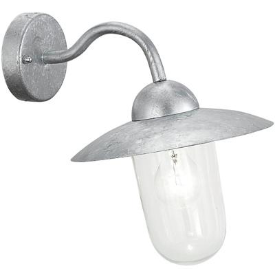 Afbeelding van EGLO buitenwandlamp MILTON verzinkt, staal, glas, E27, 60 W, energie efficiëntie: A++, H: 31 cm