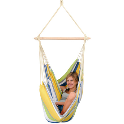 Image of Amazonas Relax Hanging Chair (Colour: yellow/green/blue)