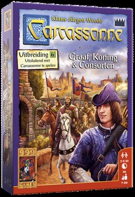Afbeelding van 999 Games spel Carcassonne: Graaf, Koning en Consorten