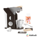 Afbeelding vanKidkraft Houten speelgoed koffiezetapparaat Espresso kleurig