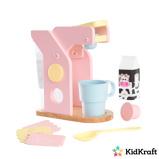 Afbeelding vanKidkraft Houten speelgoed koffiezetapparaat pastelkleurig