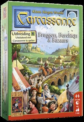 Afbeelding van 999 Games Carcassonne: bruggen, burchten en bazaars Uitbreidingsspel