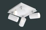 Afbeelding vanTrio Lighting plafondspot Mia met vier lichtbronnen, voor woon / eetkamer, metaal, GU10, 35 W, energie efficiëntie: A++, L: 24 cm, B: 24 cm, H: 15 cm