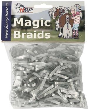 Imagen de Bandas de goma Harry's Horse Magic Braids (Color: plata)