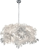 ObrázekRomantic hanging lamp white with leaves Feder