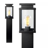 Afbeelding vanK. S. Verlichting tuinpadverlichting Jersey in slank ontwerp, aluminium, glas, E27, 60 W, energie efficiëntie: A++, L: 13 cm, B: 13 cm, H: 60 cm