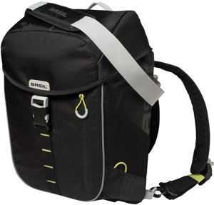 Image of Basil Miles daypack (Main colour: black/yellow green)